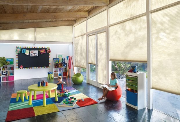 Hunter Douglas window coverings for childrends rooms.