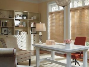 Allure Window Coverings custom cut blinds.
