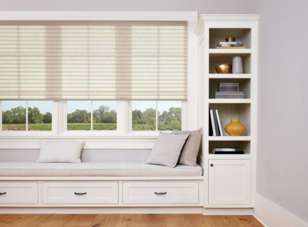 Clean design sonnette living room window coverings.