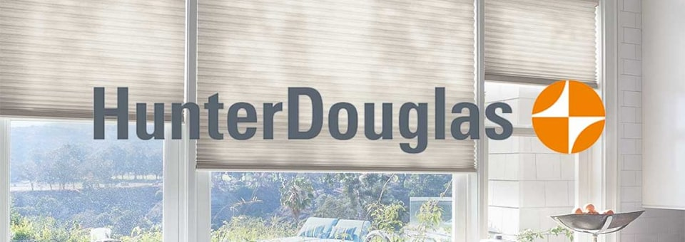 Custom Blinds Hunter Douglas Logo.