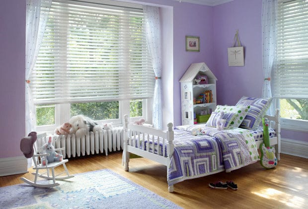 Children need window treatments too. Custom blinds.