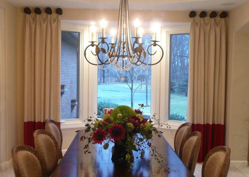 Custom drapery installed by Allure Window Coverings.