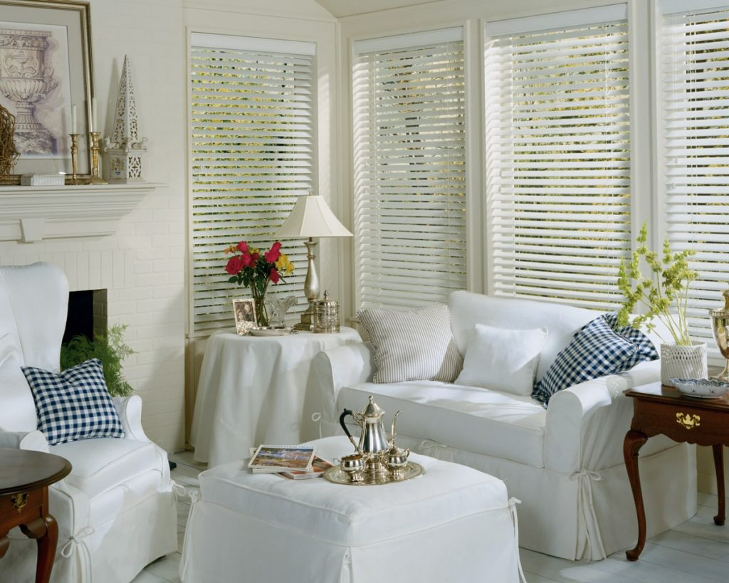 Everwood custom cut window coverings by Allure.