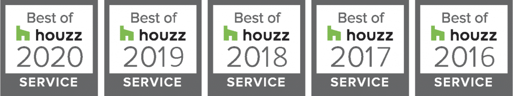 Best of Houzz award winner 5 years in a row.