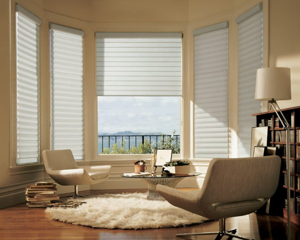 Pirouette easyrise blinds. Hands-free privacy.