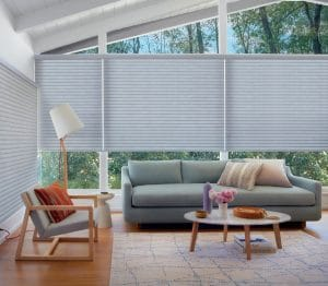 Sonnette blinds add maximum privacy and light control.