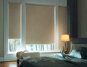 Roller shades room darkening window coverings to match any color.