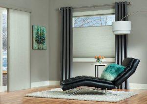 Duette Vertiglide sliding blinds. Hands free & elegant.