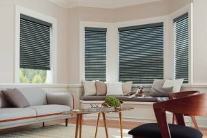 Parkland wood blinds in black. Make your room look its best.