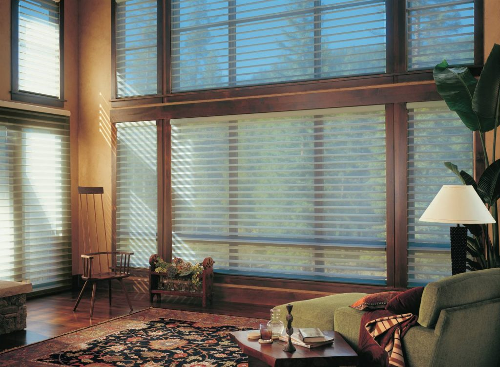 Hunter Douglas Silhouette blinds make any room look its best.